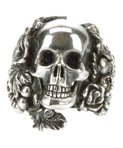 UGO CACCIATORI | Chunky Ring From Featuring A Large Cast Skull To The Top With A Surround And A Treated Finish
