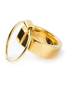 RUIFIER | -Plated Icon Ring From Featuring A Three Way Design And A Second Thin Ring Attachment