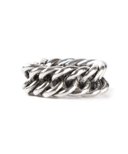 UGO CACCIATORI | Chunky Ring From Featuring A Chain Link Design And A Treated Finsh