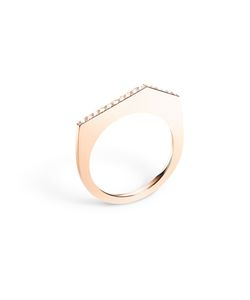 SELIN KENT | 14 Kt Fiona Sculptural Ring From Featuring A Diamonds Pave Set