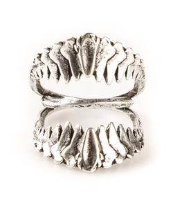 BRUTE | Plated Bronze Double Jaw Ring From Featuring A Tarnished Finish