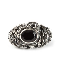 UGO CACCIATORI | Engraved Rhinestone Sovereign Ring From