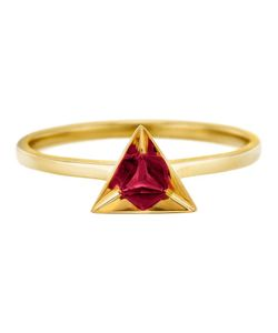 RUIFIER | 18kt Stella Ruby Ring From Featuring A Deep-Cut Pyramidal 18kt Setting Highlights The Splendour Of This Triangular Ruby Refracted Into A Highly Polished Reflecting Hexagon