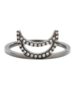 RUIFIER | Visage Midnight Crescent Ring