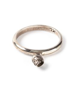 UGO CACCIATORI | Ring From Featuring Cast Skull Detailing And A Treated Finish