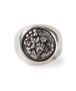 UGO CACCIATORI | Chunky Signet Ring From Featuring A Cast Centre And Treated Finish