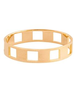 CHARLET PAR AIME | 18kt Small Damier Ring From Featuring Cut Out Details