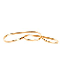 VIBE HARSLOF | -Tone Three Finger Ring From Vibe Harsl F Featuring Multiple Finger Holes And A Thin Plated Design
