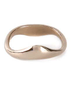 MAXIME LLORENS | 14kt Small Zipzag Ring From Featuring A Curved Structure