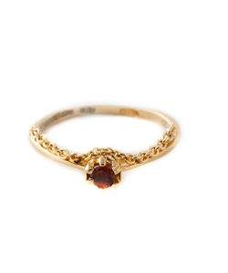 PURO IOSSELLIANI | Plated Sterling Garnet Chain Ring From Featuring A Chain Detail