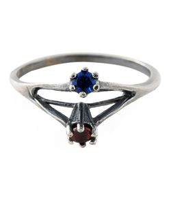 PURO IOSSELLIANI | Saphire And Garnet Ring