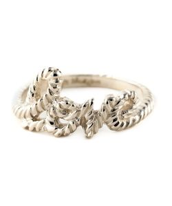 ZOE AND MORGAN | Sterling Love Lasso Ring From Featuring A Hand Carved Rope Detailed Ring