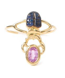 DANIELA VILLEGAS | 18kt Khepri Beetle Ring From Featuring A Stone And Sapphires