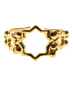 Leivankash | Plated Brass Cut Out Star Open Ring From