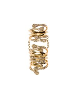 Joanna Laura Constantine | -Tone Swarovsky Crystals Encrusted Long Ring From