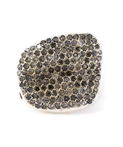 ROSA MARIA | Harir Chunky Ring From Featuring Pave Set Diamonds A Hand Molded Design And A Textured Finish