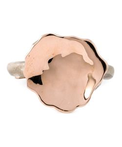 ROSA MARIA | Mina Ring From Featuring A 12kt Uneven Flat Top