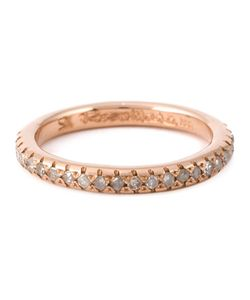 ROSA MARIA | 12kt Image Band Ring From Featuring Pave Set Diamonds