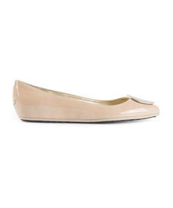 Jimmy Choo | /Almond Patent Calf Leather Wray Ballerinas From Featuring An Almond Toe A Brand Embossed Insole A Flat Sole And A Tone Disc On The Front