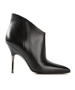 STELLA LUNA | Leather Pointed Toe Stiletto Booties From