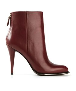 STELLA LUNA | Bordeux Leather Zip Fastening Ankle Boots From