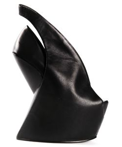 Iris Van Herpen | Leather Biopiracy Booties From X United Nude Featuring An Open Toe A Slingback Ankle Strap And A Concealed High Heel