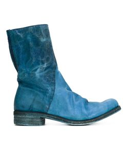 A DICIANNOVEVENTITRE | Horse Leather Zip Detail Distressed Boots From