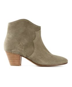 Isabel Marant | Leather Dicker Ankle Boots From Featuring An Almond Toe A Side Zip Fastening Stitching Details And A Chunky Low Heel