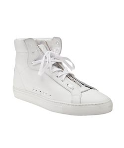 Nicolas Andreas Taralis | Leather High-Top Sneakers From Featuring A Round Toe Lace Up Detail With Zip Up Center Detachable Velcro Strap And Flat Rubber Sole