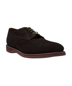 Walk-Over | Chocolate Suede Lace-Up Shoes From Featuring A Round Toe And A Flat Rubber Sole