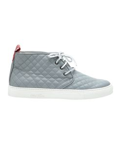 DEL TORO SHOES | Leather Quilted Chukka Trainers From Featuring A Round Toe A Front Lace Up Detail And A Rubber Sole
