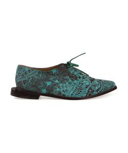 FERNANDA YAMAMOTO | Lace Print Lace-Up Shoes