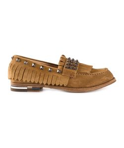 Daniele Michetti | Suede Studded Tassel Loafers From