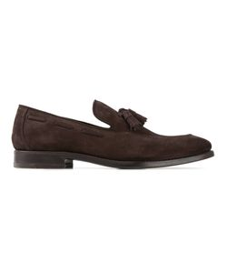 Henderson Fusion | Dark Suede Tassel Loafers From