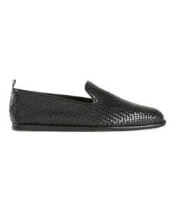 H By Hudson | Leather Woven Loafers From