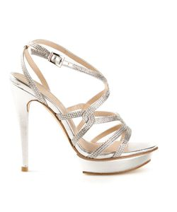 PELLE MODA | Leather Farah Rhinestone Platform Sandals From Featuring An Open Toe A Strappy Design An Ankle Strap With A Side Buckle Fastening And A High Stiletto Heel