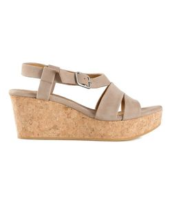 Coclico | Nude Leather Strappy Wedge Sandals From