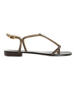 PELLE MODA | Leather Becca Embellished Sandals From