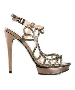 PELLE MODA | Fey Embellished Strappy Sandals