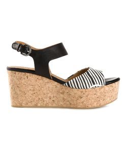 Coclico | And Leather And Cork Platform Wedge Sandals From