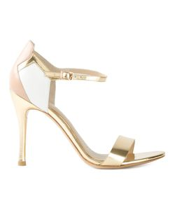 STELLA LUNA | -Tone Nude And Leather Colour Block Sandals From