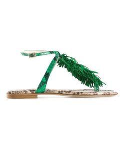 Visconti & Du Réau | Emerald Leather Maui Sandals From
