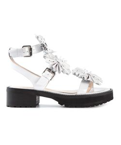 Chloe Sevigny For Opening Ceremony | Leather Bow Detail Buckled Sandals From