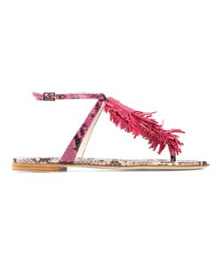 Visconti & Du Réau | Multicoloured Leather Maui Fringed Sandals From