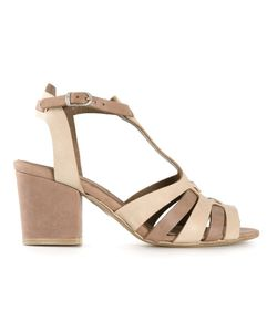 Henry Beguelin | Nude Leather Chunky Heel Sandals From