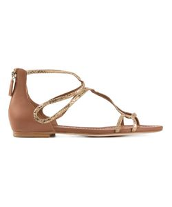 Visconti & Du Réau | -Tone Cotton And Leather Cartagena Sandals From