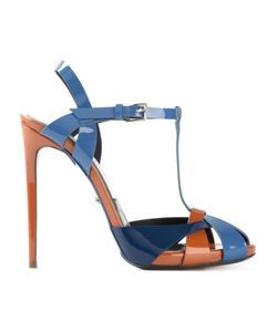 MARCO PROIETTI DESIGN | And Patent Leather Criss-Cross Sandals From
