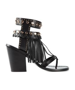 IVY KIRZHNER | Leather Fringed Sandals From