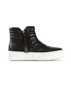 BB BRUNO BORDESE WASHED | Calf Leather Zip Fastening Quilted Hi-Top Sneakers From