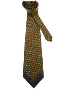 GIANFRANCO FERRE VINTAGE | Silk Tie From Featuring A Tone Print And Pointed Tips